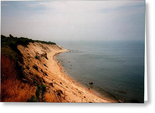 Cliffs Of Block Island Greeting Card