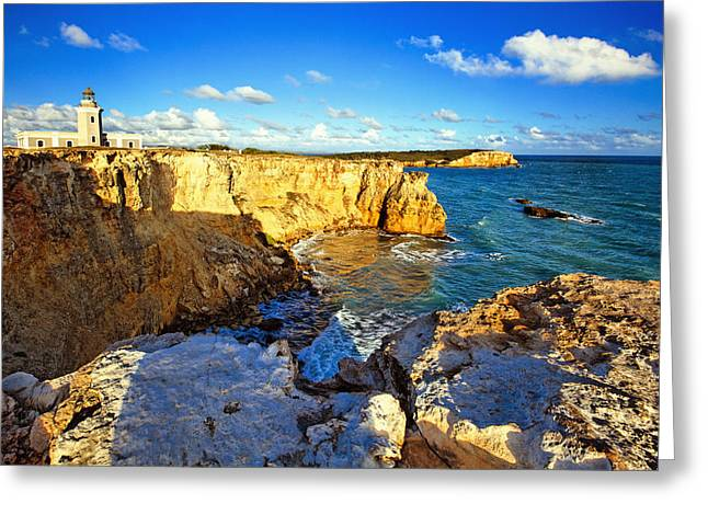 Wildlife Refuge. Greeting Cards - Cliffs of Cabo Rojo at Sunset Greeting Card by George Oze