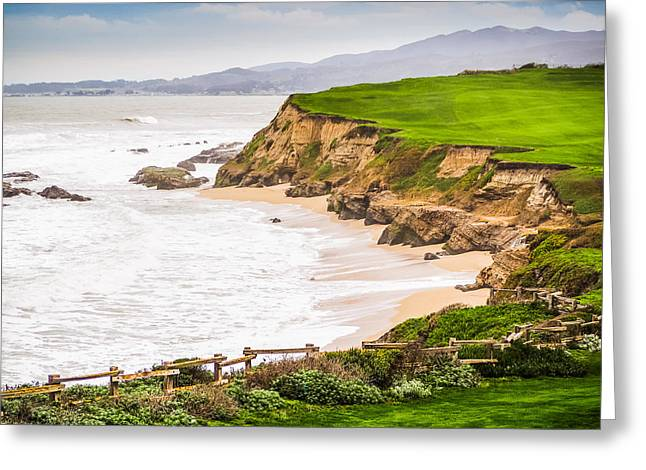 The Cliffs At Half Moon Bay Greeting Card