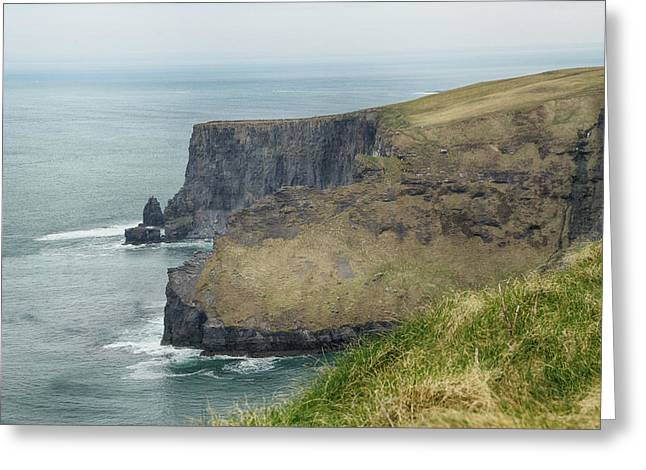 Cliffs Of Moher 1 Greeting Card by Marie Leslie