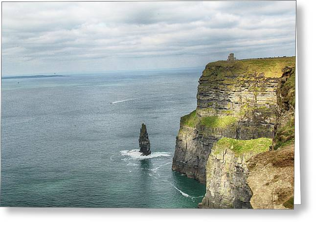 Cliffs Of Moher 3 Greeting Card by Marie Leslie