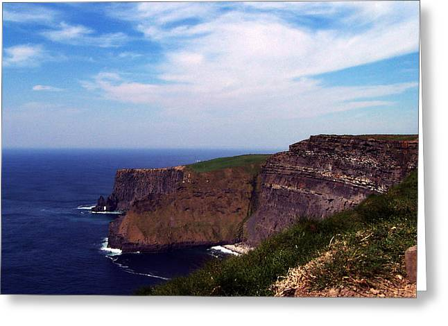 Cliffs Of Moher Greeting Cards - Cliffs of Moher Aill Na Searrach Ireland Greeting Card by Teresa Mucha