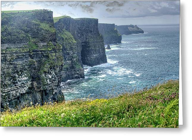 Cliffs Of Moher Greeting Card by Alan Toepfer