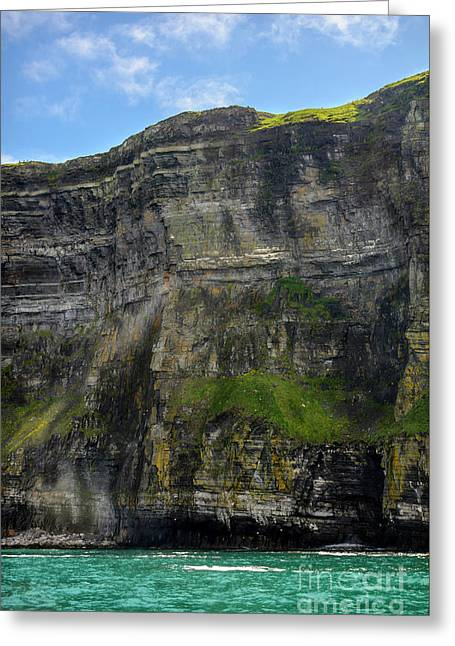Greeting Card featuring the photograph Cliffs Of Moher From The Sea Close Up by RicardMN Photography