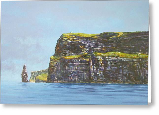 Cliffs Of Moher From The Sea Greeting Card by Eamon Doyle