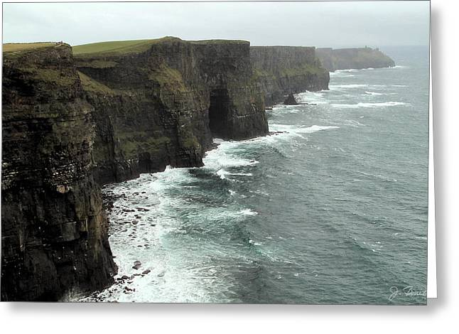 Cliffs Of Moher Greeting Card by Joe Bonita