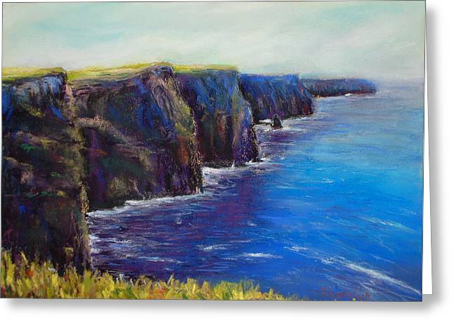 Cliffs Pastels Greeting Cards - Cliffs of Moher Greeting Card by Joyce A Guariglia