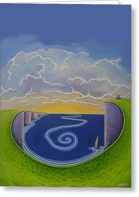 Cliffs Of Moher Vortex Greeting Card by Eamon Doyle
