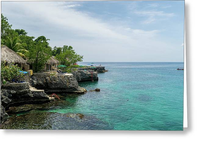 The Cliffs Of Negril Greeting Card
