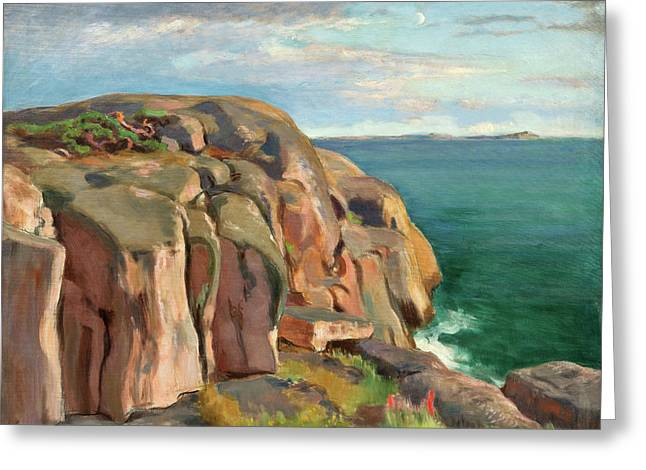 Cliffs On The Shore Of Kaivopuisto Greeting Card