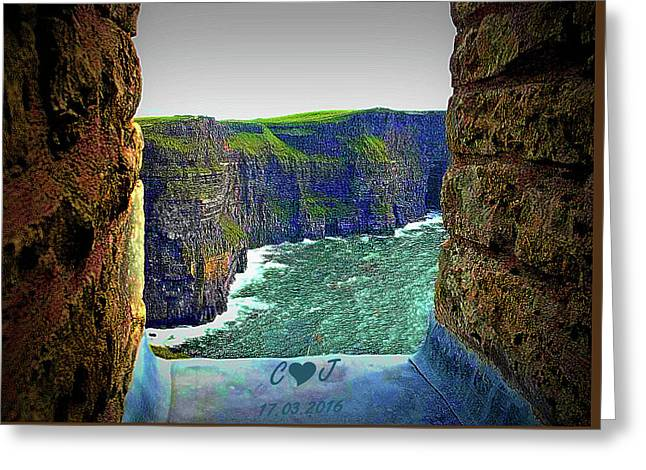 Cliffs Personalized Greeting Card