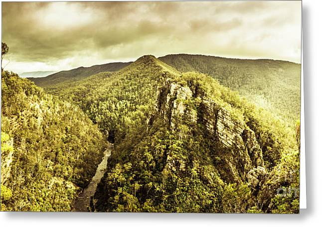 Cliffs, Steams And Valleys Greeting Card