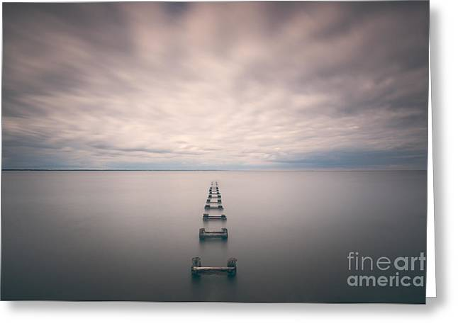 Best Ocean Photography Greeting Cards - Cliffwood Sea Wall  Greeting Card by Michael Ver Sprill