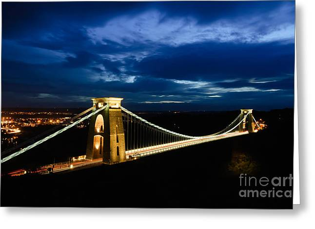 Clifton Suspension Bridge, Bristol. Greeting Card