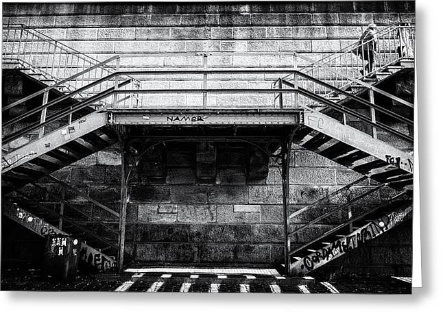Climb The Stairs Greeting Card by M G Whittingham