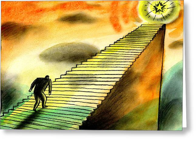 Climbing The Corporate Ladder Greeting Card