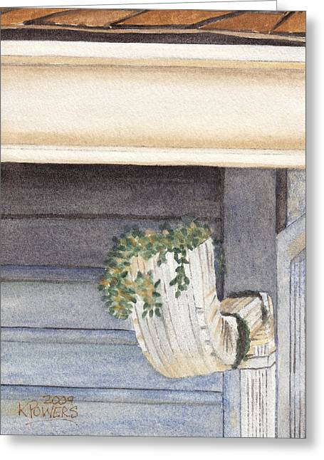 Climbing Out Of The Gutter Greeting Card by Ken Powers