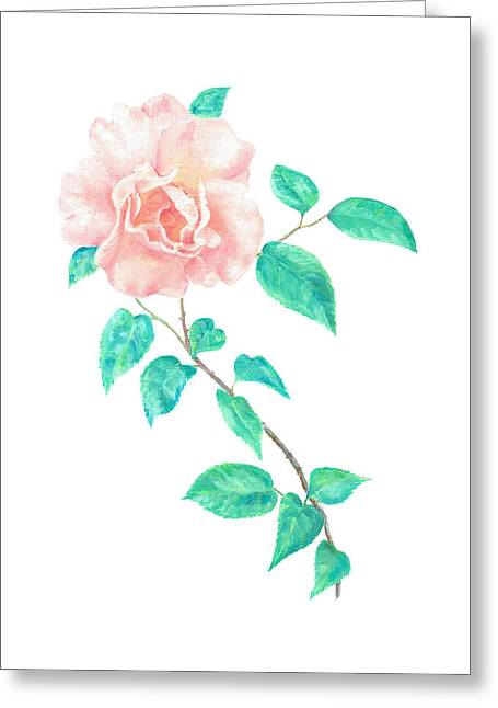 Greeting Card featuring the painting Climbing Rose by Elizabeth Lock
