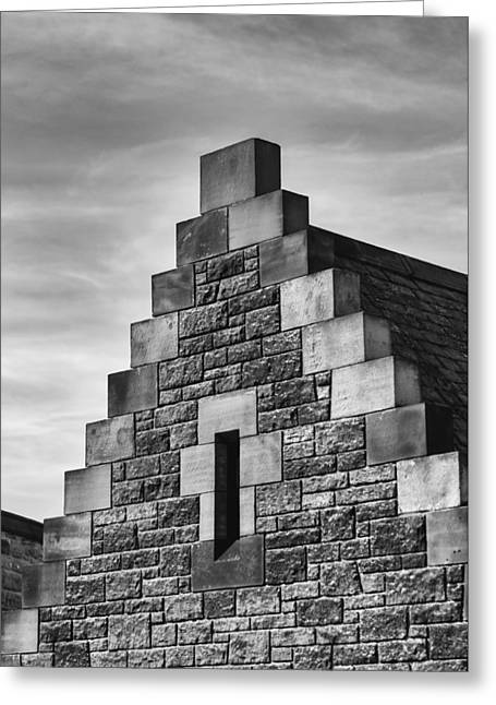 Greeting Card featuring the photograph Climbing The Castle by Christi Kraft