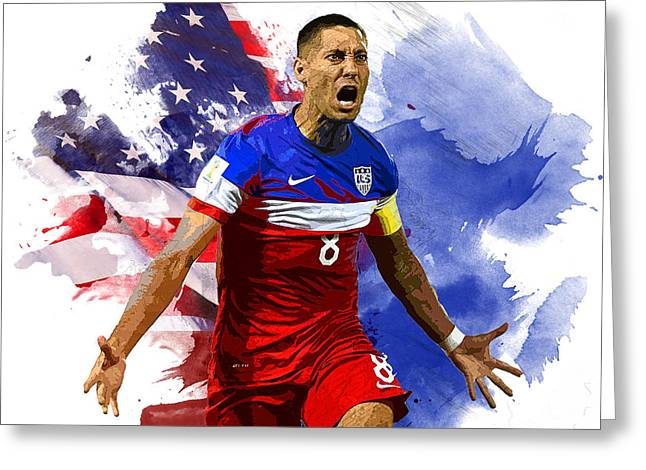 Clint Dempsey Greeting Card by Semih Yurdabak