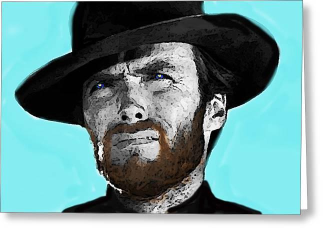 Clint Eastwood 1  Greeting Card by Enki Art