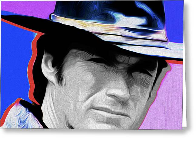 Clint Eastwood #21a By Nixo Greeting Card