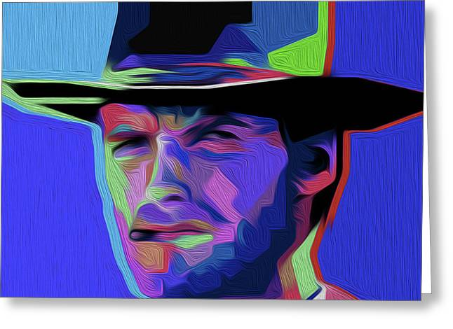 Clint Eastwood 303 By Nixo Greeting Card
