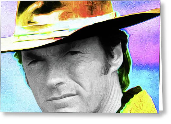 Clint Eastwood 33a By Nixo Greeting Card