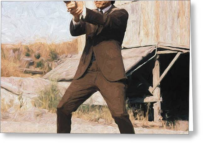 Clint Eastwood As Dirty Harry Greeting Card