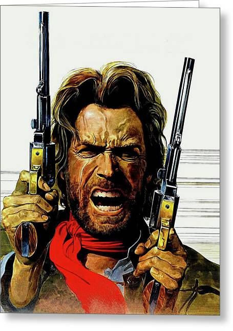 Clint Eastwood As Josey Wales Greeting Card