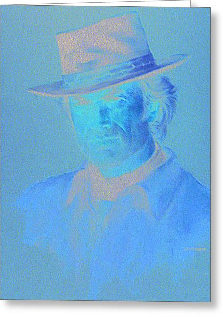 Clint Eastwood Greeting Card by Charles Vernon Moran