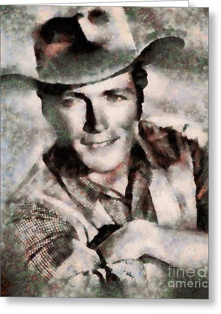 Clint Eastwood Hollywood Actor Greeting Card by Sarah Kirk