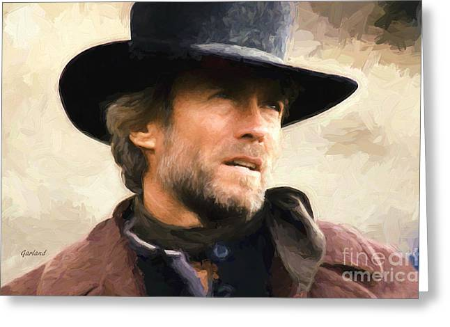 Clint Eastwood In Western Greeting Card
