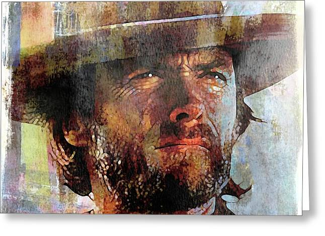 Clint Eastwood Greeting Card by Mal Bray