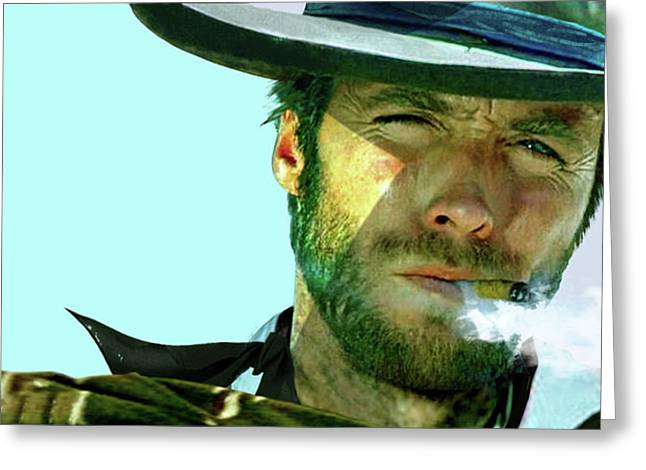 Clint Eastwood - The Man With No Name Greeting Card by Thomas Pollart