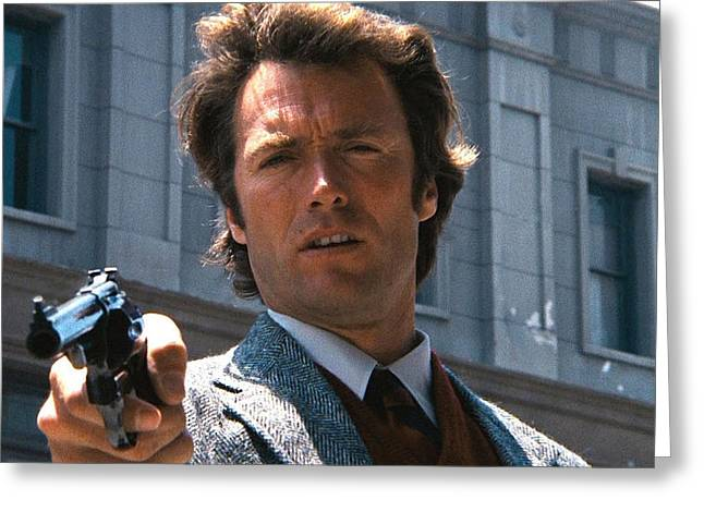 Clint Eastwood With 44 Magnum Dirty Harry 1971 Greeting Card
