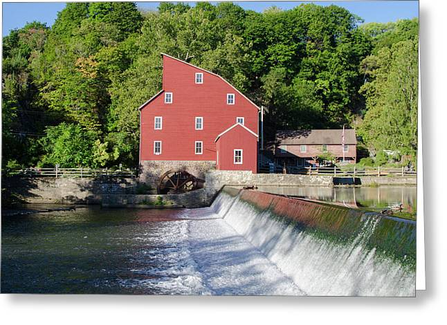 Clinton New Jersey -the Red Mill  On The Raritan River  Greeting Card by Bill Cannon