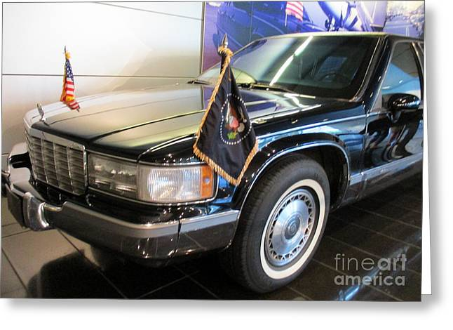 Clinton Presidential Limo Greeting Card
