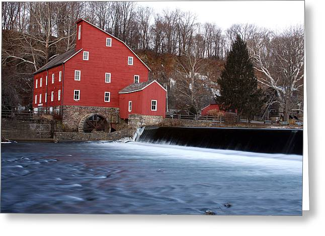 Clinton Greeting Cards - Clinton Red Mill in Motion Greeting Card by Jeff Bord