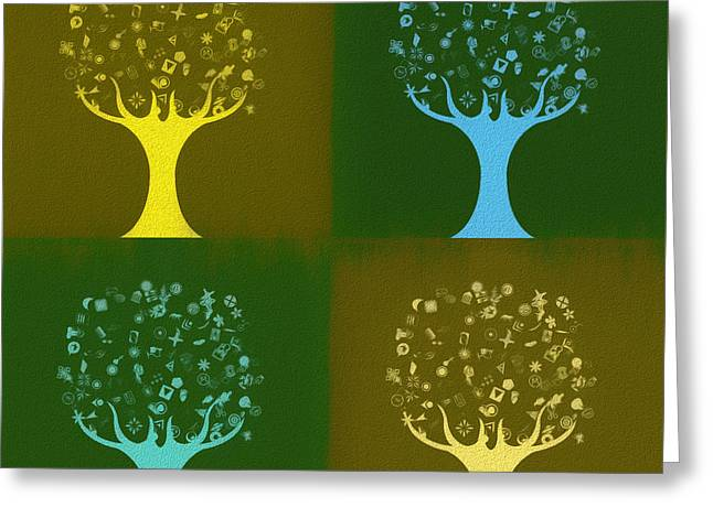 Clip Art Trees Greeting Card
