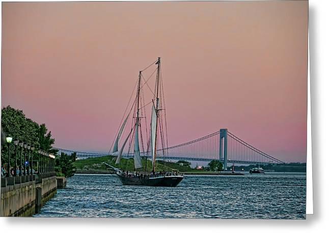 Greeting Card featuring the photograph Clipper City by Steve Sahm