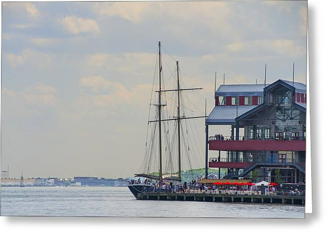Clipper City Tall Ship - Manhattan  Greeting Card by Bill Cannon