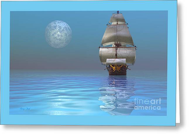 Clipper Ship Greeting Card by Corey Ford