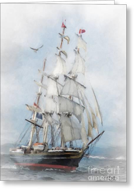 Clipper Ship In Sail Greeting Card