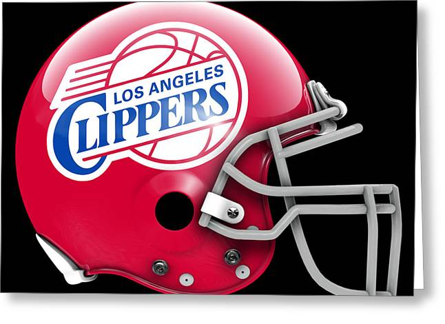 Clippers What If Its Football 1 Greeting Card by Joe Hamilton