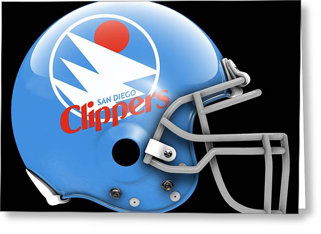 Clippers What If Its Football Greeting Card by Joe Hamilton