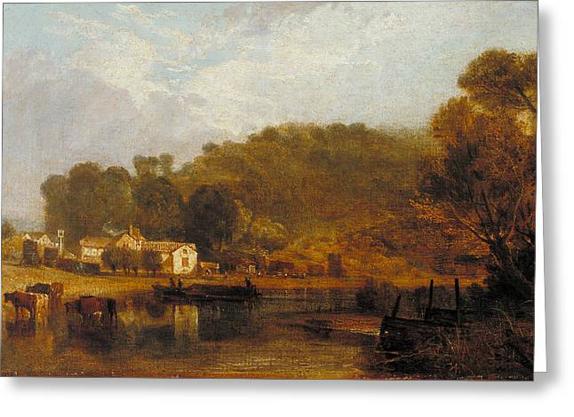 Cliveden On Thames Greeting Card by Joseph Mallord William Turner