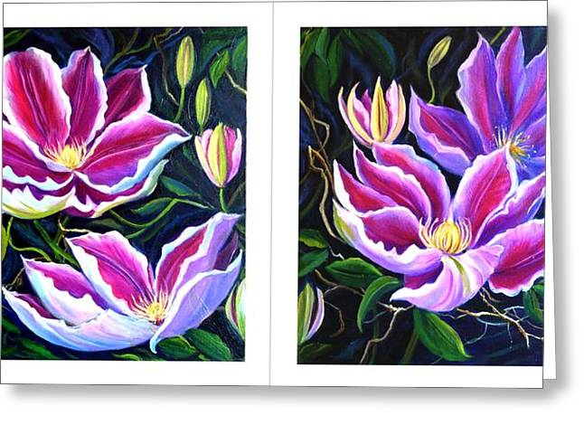 Cllementis Greeting Card by Janet Silkoff