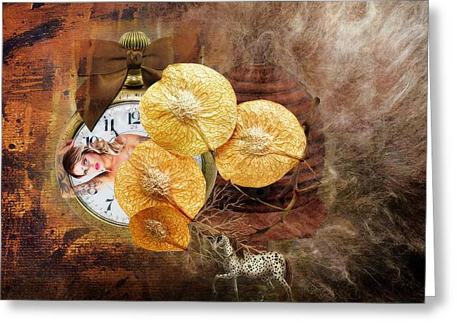 Clock Girl Greeting Card