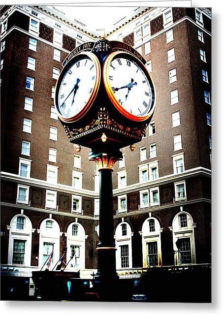 Greeting Card featuring the photograph Clock by Kelly Hazel